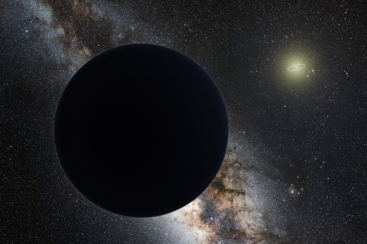 Artist's Impression of Planet Nine as an Ice Giant