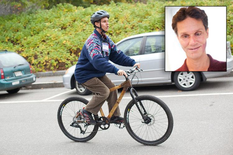 Daniel Kish Riding His Bike