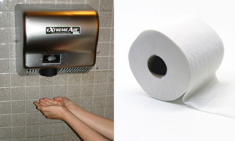 Hand Dryer vs. Paper Towel