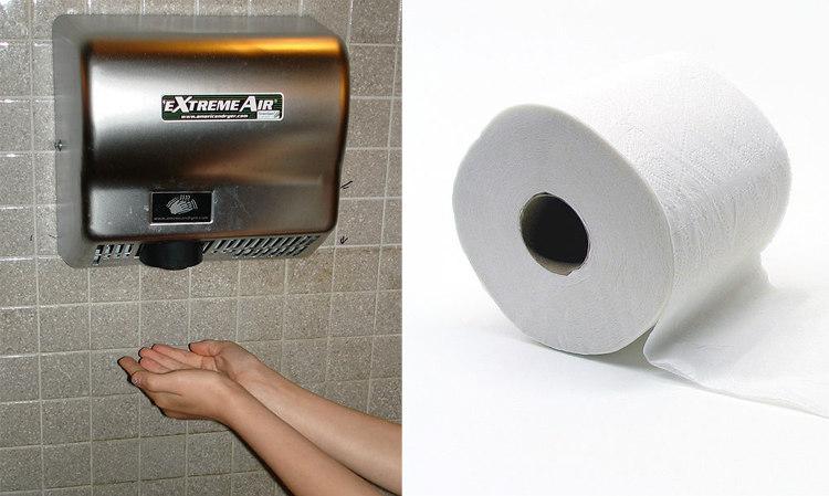 Hand Dryer vs. Paper Towel