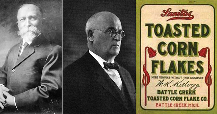 John Harvey Kellogg, Will Keith Kellogg, Kellogg's corn flakes