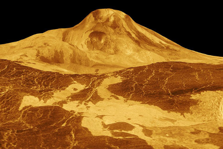 Metal Snow on Venus' Maat Mons