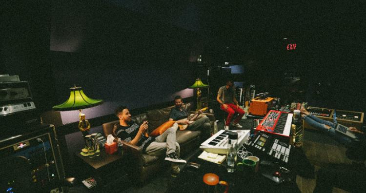 Mike Shinoda's makeshift bedroom studio