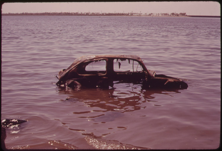 Abandoned Car in Jamaica Bay