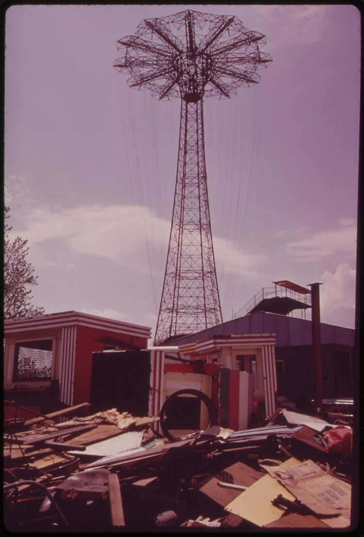 Abandoned Parachute Jump at Steepleehase Amusement Park