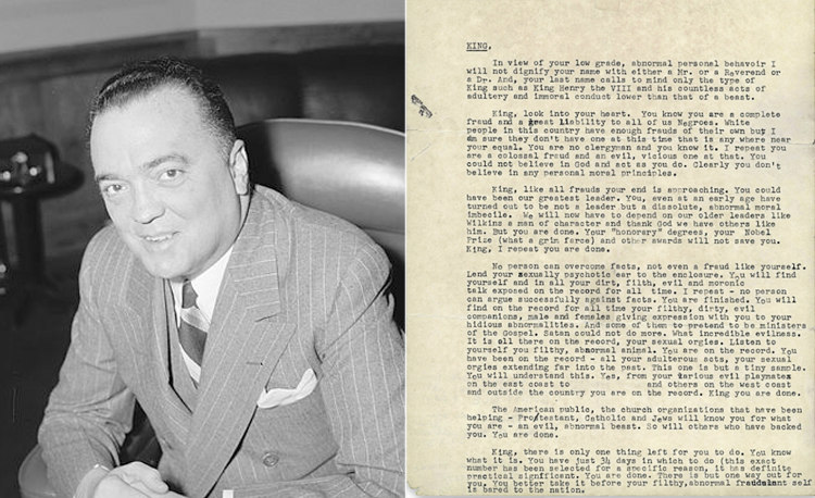 J. Edgar Hoover and Letter to Martin Luther King Jr.