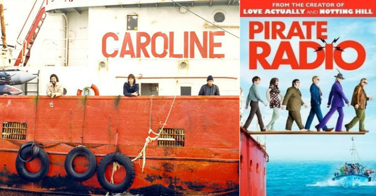 Radio Caroline ship and movie poster