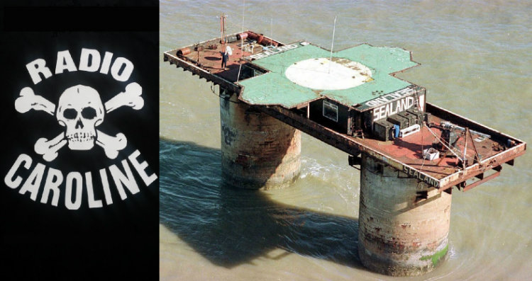 Radio Caroline logo and Sealand