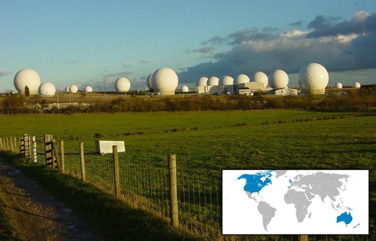 Radomes at RAF Menwith Hill and ECHELON Participants