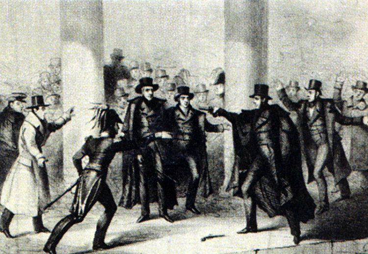 Richard Lawrence's Assassination Attempt of President Andrew Jackson