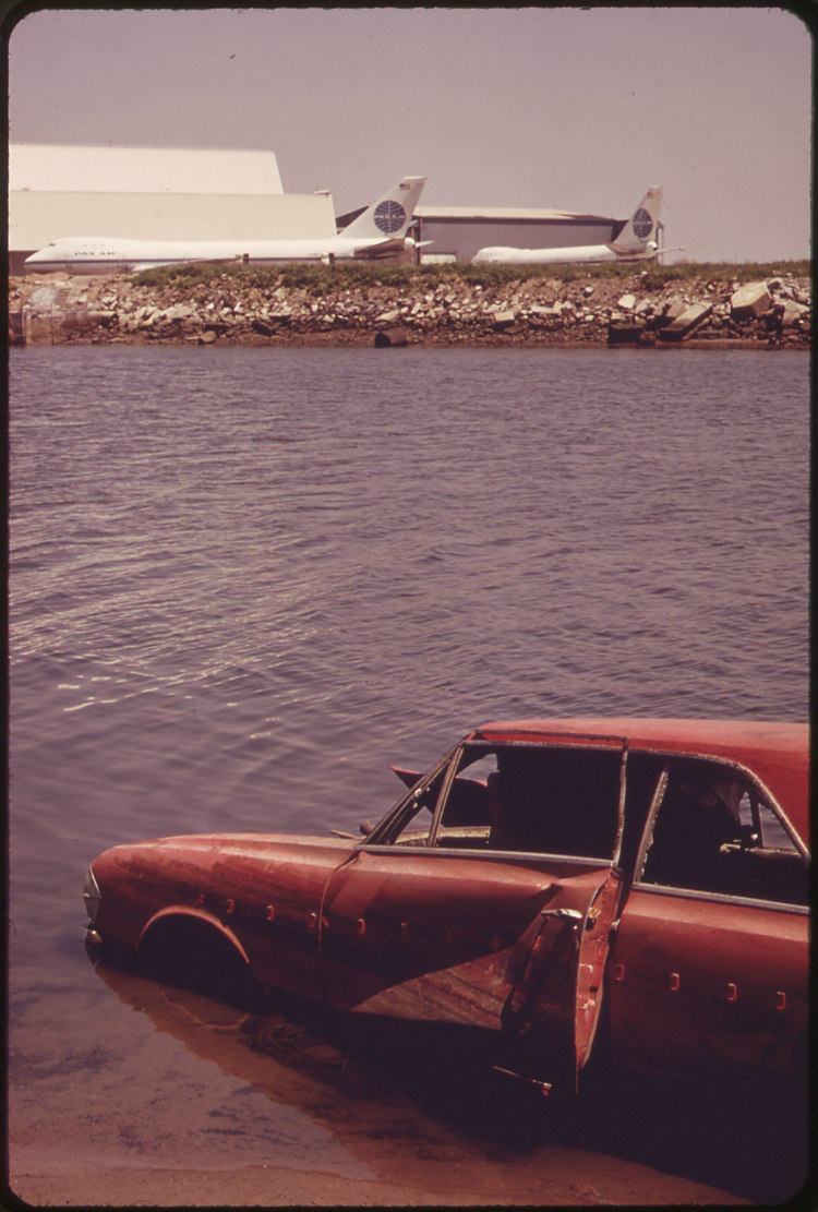Shoreline Debris at the John F. Kennedy Airport