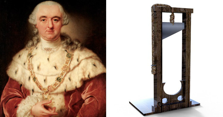 Duke of Bavaria and guillotine