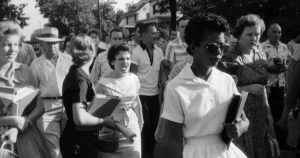 In 1957, Elizabeth Eckford became the face of desegregation due to a famous photo of angry protestors harassing her on the way to school. Forty years later, she became friends with one of the protestors from the photo