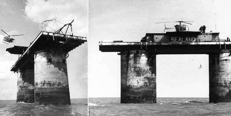 Sealand with helicopter