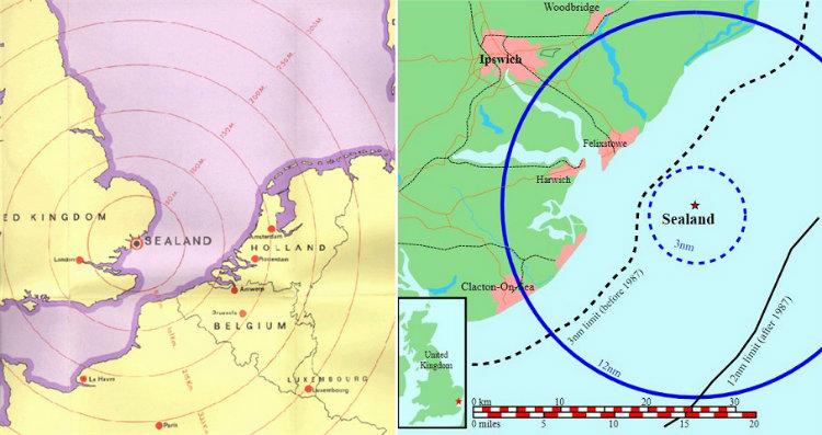 Sealand maps