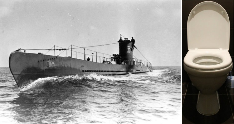 U-boat and toilet