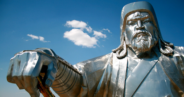 Fearsome reputation of Genghis Khan.