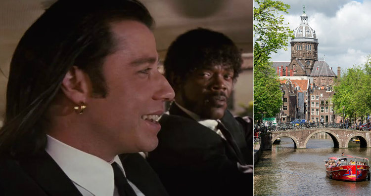 Pulp Fiction Amsterdam scene and landscape