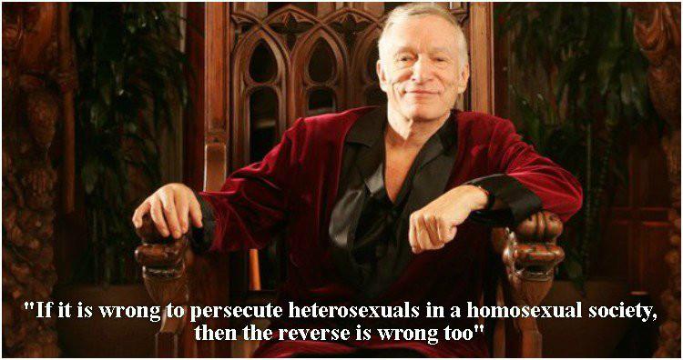 Hefner support gay rights