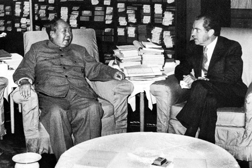 Mao Zedong met with US president Richard Nixon