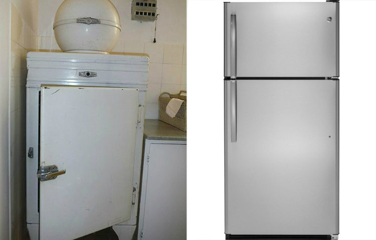 Old and New Refrigerator Doors