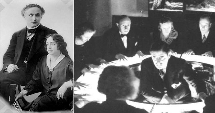 Houdini with wife and a seance