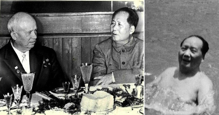 khrushchev and mao and swimming