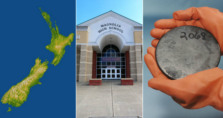 New Zealand a highschool and uranium