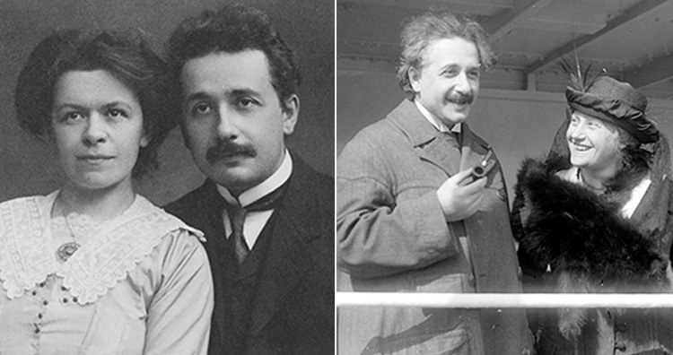Albert Einstein with Mileva Maric and Elsa