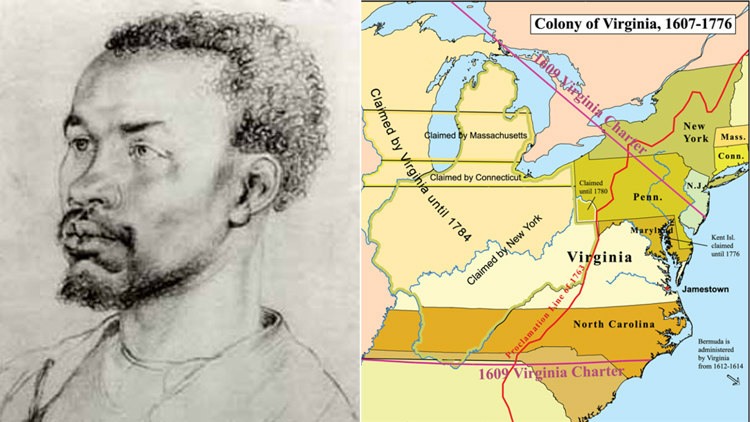 An African Slave and Colony of Virginia