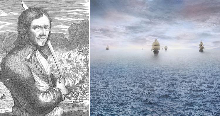 Francois Lollonais and pirate ship