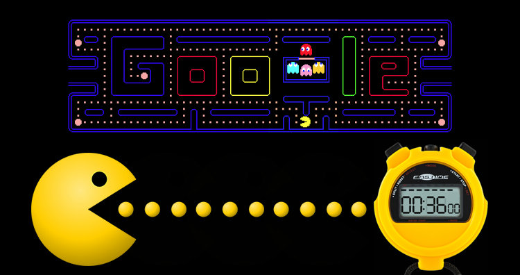 Google Pac-man Doodle and stopwatch