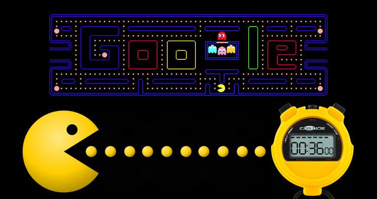 Google Pac-man Doodle and stopwatch