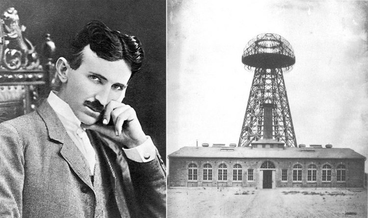 Nikola Tesla and Tesla Broadcast Tower
