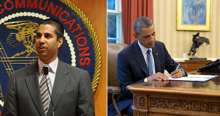 FCC chairman Pai and Obama