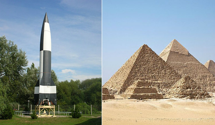 V-2 Rocket and Egyptian Pyramids