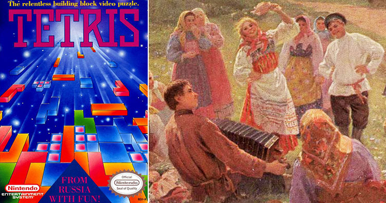 Tetris cover and Russian folk singing
