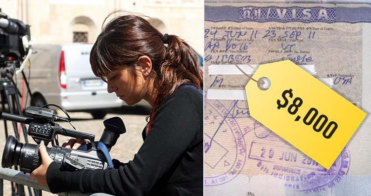 videojournalist and visa