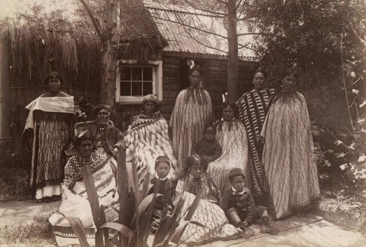 A Maori Family in New Zealand