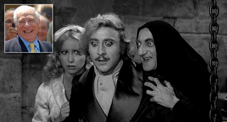 Gene Wilder in Young Frankenstein and Mel Brooks