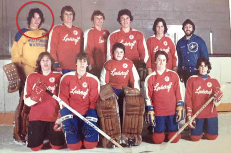 Keanu Reeves as Ice Hockey Goalie