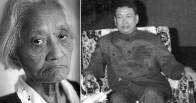 Khieu Ponnary and Pol Pot