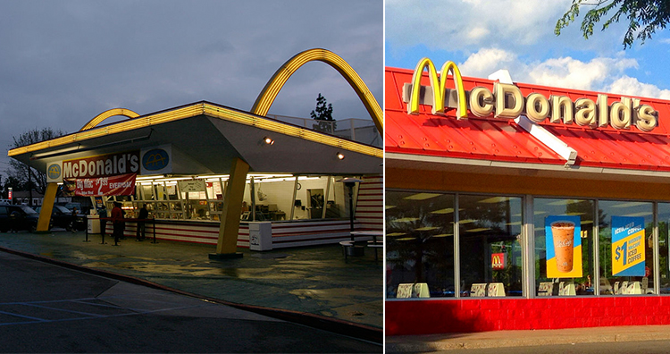 Mc Donalds Logo Before and Now