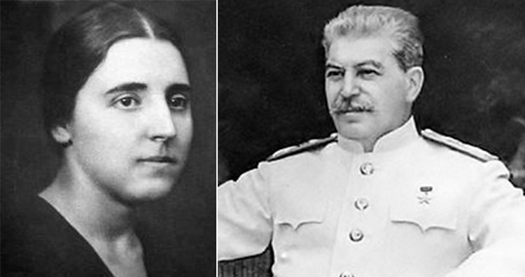 Nadezhda Alliluyeva and Joseph Stalin
