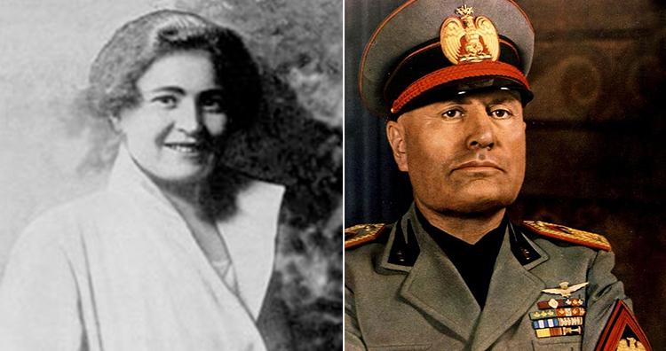 Rachele Mussolini and Benito Mussolini