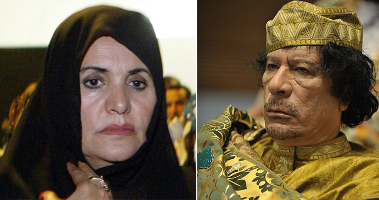 Safia Farkash and Muammar Gaddafi