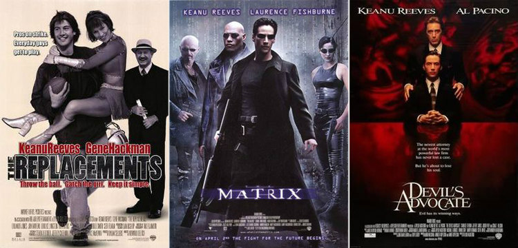 The Replacements, The Matrix, and The Devil's Advocate