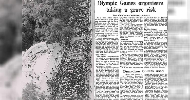 Tlatelolco massacre, The Guardian, 5 October 1968