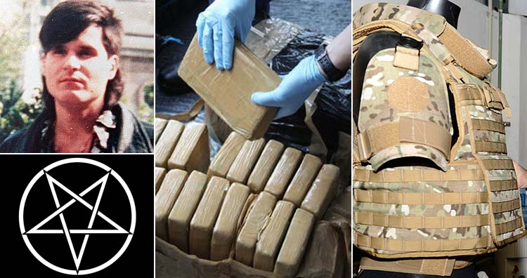Narcosatanist drug smuggling and bulletproof vest