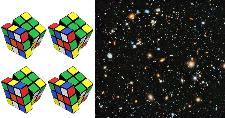 Four Rubik's cube, Universe